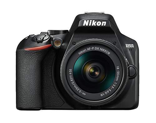 Nikon D3500 Digital SLR im DX Format mit AF-P DX 18-55mm VR (24,2 MP, 3 Zoll TFT-Monitor, eingebauter Guide für das perfekte Foto, SnapBridge, AF mit 3D-Tracking, Full-HD Video, ISO 100-25.600)