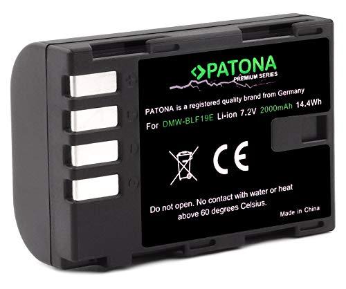 PATONA Premium DMW BLF19 E (echte 2000mAh) mit Infochip - kompatibel mit Lumix DC G9 GH5 DMC GH3 GH4 GH4R / Sigma BP-61 usw.
