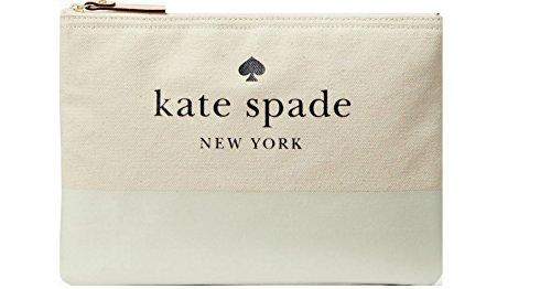 Kate Spade Ash Street Gia women's canvas clutch (Cement)