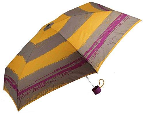 Esprit Petito Flashstripe yellow 50616 Gelb gestreift Regenschirm Taschenschirm Schirm