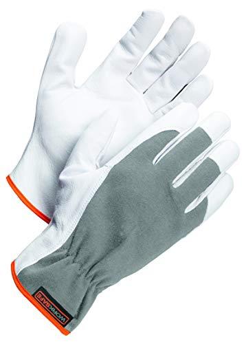 Worksafe Arbeitshandschuhe Ziegenleder, Montagehandschuhe A10-111 – abriebfest, geschmeidig, 1 Paar, Gr. 10=XL
