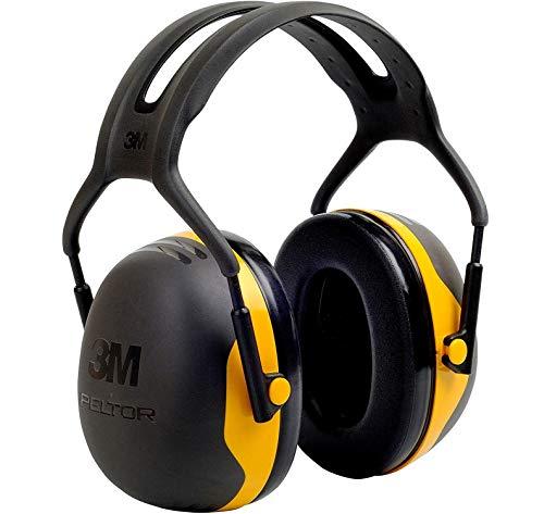 3M Peltor Kapselgehörschützer X2A für Lärmpegel von 94 bis 105 dB, stufenlos verstellbare Kopfbügel,schwarz/gelb