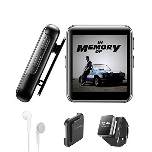 MP3 Player BENJIE 16GB MP3 Player Bloothooth 1,5' MP3 Player Sport Voller Touchscreen HiFi Verlustfreier Ton, FM Radio, Diktiergerät mit Kopfhörern, E-Book, Video Player für Sport und Musik Liebhaber