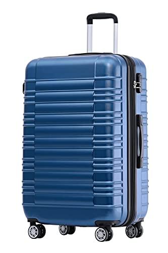 BEIBYE Zwillingsrollen Reisekoffer Koffer Trolleys Hartschale M-L-XL-Set (Blau, M)