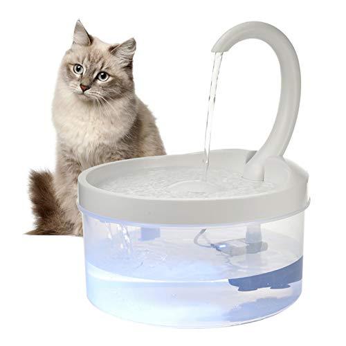 Foliner Katzen Trinkbrunnen Katzenbrunnen Wasserspender Wasserhahn Automatischer Trinkbrunnen Trinkschale mit LED-Licht für Katzen Hunde