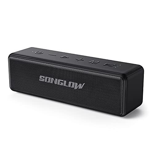 SONGLOW Bluetooth Lautsprecher Wasserdicht Tragbare: 30W Individueller EQ Lautsprecher Boxen Bluetooth 5.0 & Enormer Stereo Dualen Paarung Tiefer Bass & IPX7 Wasserschutz & 12 Stunden Akku