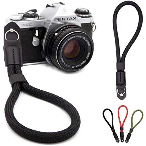 Lens-Aid Handschlaufe in Seil-Optik für Kamera: Kameragurt fürs Handgelenk geeignet für Canon, Nikon, Sony, Fujifilm, Olympus, Leica etc.