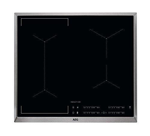 AEG IKE64441XB Autarkes Kochfeld / Herdplatte mit Touchscreen, Topferkennung & Hob²Hood-Funktion / Induktionskochplatte / 4 Kochzonen / Edelstahlrahmen / 60 cm