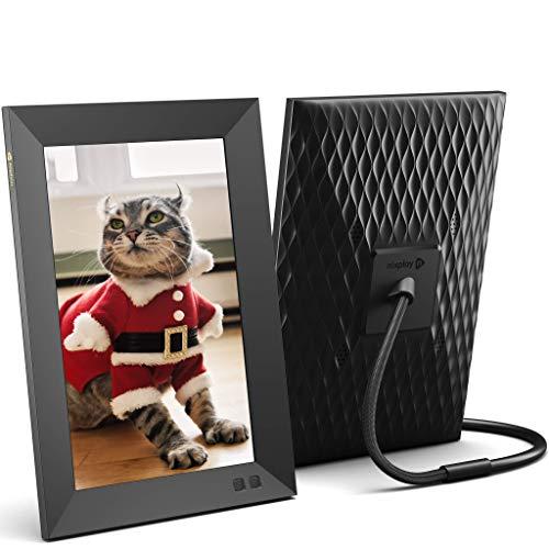 Nixplay Smart Digitaler Bilderrahmen 10,1 Zoll, Videoclips und Fotos sofort per E-Mail oder App teilen