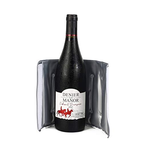 Weinkühler, Flaschenkühler, Aktive Schnel kühler für Weinflaschen, Weingeschenke & Zubehör, wiederverwendbar