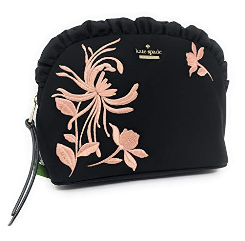 Kate Spade Marcy Dawn Place Embroidered Cosmetic Case Clutch Evening Bag Black