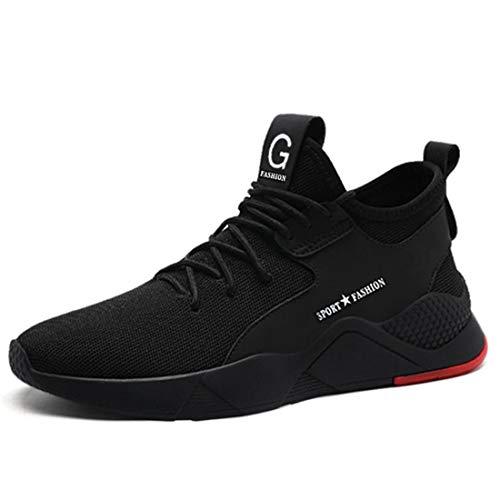 SROTER Sicherheitsschuhe Herren Damen Arbeitsschuhe mit Stahlkappe Atmungsaktiv Leicht Sportlich Sneaker Schutzschuhe Schwarz 40 EU