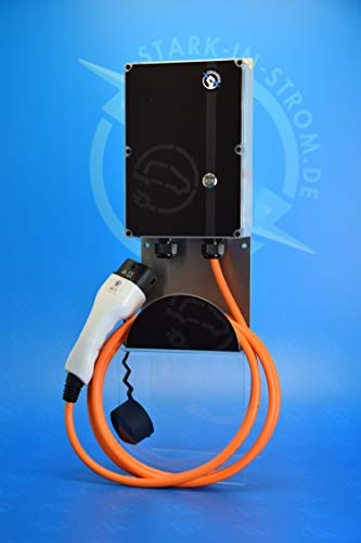 Wallbox 11 kw EASY -Wallbox Made in Germany- Plug and Play (1,5 Meter Zuleitung inkl. 16A CEE Stecker)