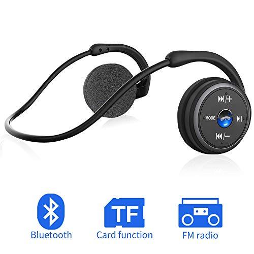Bluetooth Kopfhörer Sport on Ear Wireless Headphones (Schwarz)