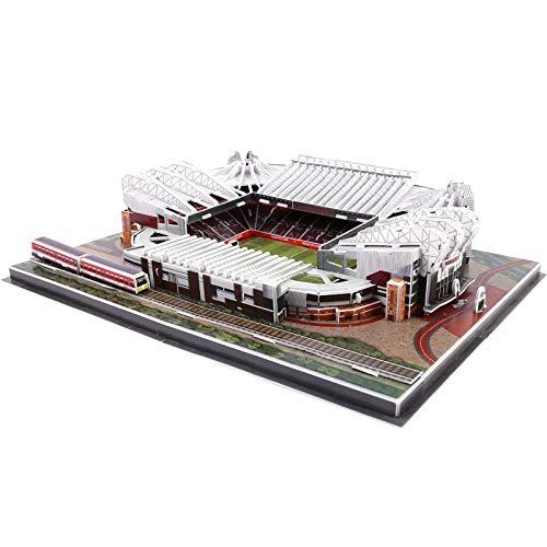 Stadion 3D Puzzle, Nanostad Manchester United, Old Trafford, Manchester City, Fc Etihad, Stadion Modellbaukästen für Kinder Erwachsene