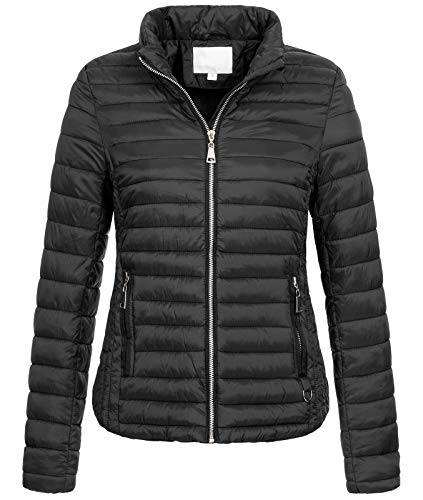 Rock Creek Damen Steppjacke Übergangsjacke Leicht Outdoorjacke Damenjacke Frauen Jacken Gesteppte Jacken Herbstjacke Jacke Weste D-427 Schwarz XL