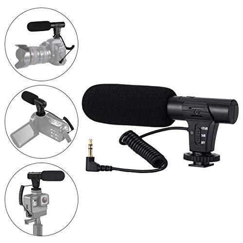Video Kamera Mikrofon Supercardioid gerichtete Interview Shotgun Mikrofon für Canon Nikon Sony Panasonic DSLR Kamera mit 3,5 mm Kopf