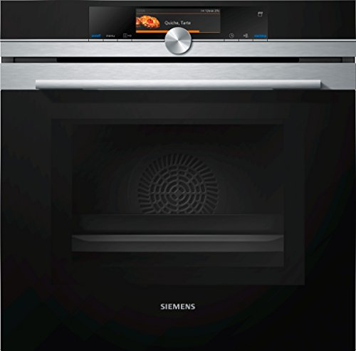 Siemens HN678G4S6 iQ700 Mikrowellen-Backofen mit Dampfunterstützung / Edelstahl / WLAN-fähig mit Home Connect / activeClean Selbstreinigungs-Automatik / TFT-Touchdisplay Plus