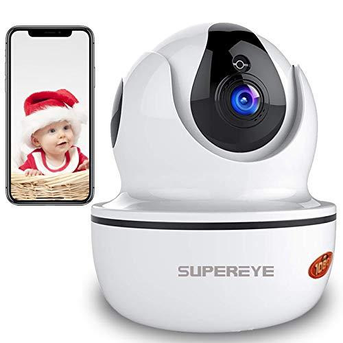 SuperEye 1080P WLAN Kamera mit Nachtsicht,Überwachungskamera IP Kamera Indoor WLAN,Smart Home WiFi Kamera,Bewegungsmelder,2-Way Audio, Haus Monitor Haustier Kamera