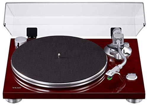 Teac TN-3B Plattenspieler mit Riemenantrieb (MM-Phono-EQ-Verstärker integriert, digitaler USB Ausgang, SAEC Tonarm, 33 & 45 RPM Geschwindigkeit), Kirsche