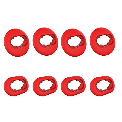 Ohrstöpsel für Samsung Galaxy Buds Live 2020 (DSM-R180) Ohrhörerzubehör, Anti-Rutsch-Ohradapter-Sets aus weichem Silikon Ersatz-4-Paar (rot)