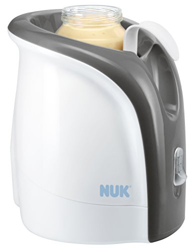 NUK 10256317 Babykostwärmer, Thermo Ultra Rapid, erwärmt Babynahrung schonend ab 2 Minuten, inklusive Auto-Adapterkabel für unterwegs