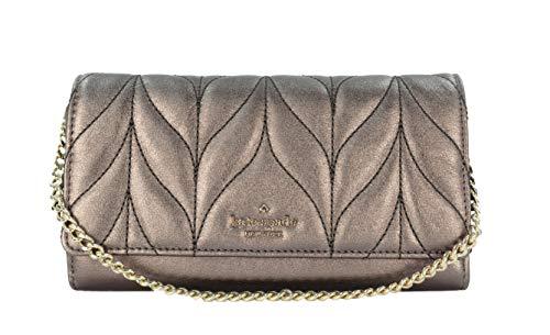 Kate Spade New York Milou Briar Lane Quilted Leather Small Chain Clutch Handbag (Metallic Oak)