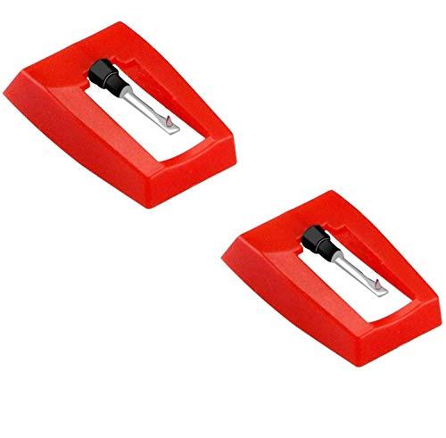 Voarge 2 Stück Nadel für Plattenspieler, Ersatznadel Plattenspieler Nadel universal für meiste Plattenspieler Phonograph, Vinyl Plattenspieler