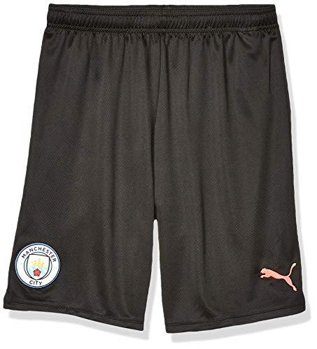 PUMA Herren Manchester City MCFC Replica Shorts, Black-Georgia Peach, Small