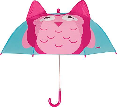 Playshoes Mädchen Printed Umbrella Regenschirm, Türkis (Türkis 15), One size (Herstellergröße: original)