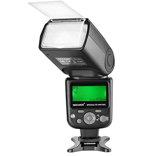 Neewer NW760 TTL Blitz Speedlite mit LCD Anzeige für Canon 7D Mark II 5D Mark II III IV III IV 1300D 1200D 1100D 750D 700D 650D 600D 550D 500D 100D 80D und anderen Canon Kameras