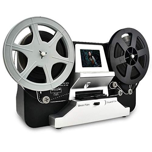 Rybozen Super 8 - Normal 8 Film Scanner mit 2,4' LCD und 32 GB SD-Karte, 1080P HD Digitalisierer für Super 8 und 8 mm