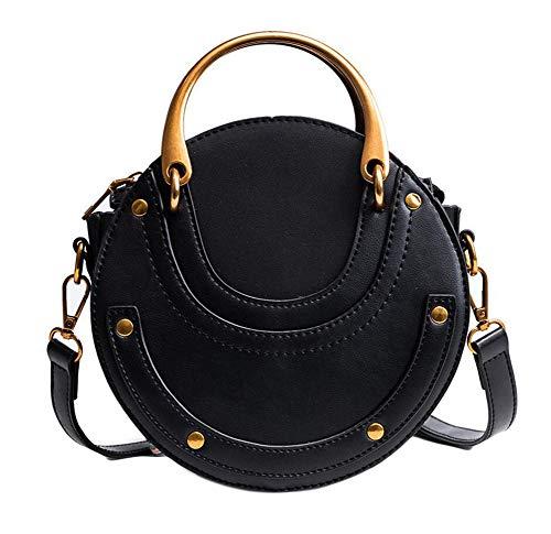 Oyccen Mode Tragbare Henkeltasche Runde Handtasche Damen Schultertasche Umhängetasche für Frauen