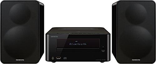 Onkyo CS-265(B) CD HiFi Minisystem (CD Player, MP3, Radio, 2 x 20 W Ausgangsleistung, Zweiwege Lautsprecher, Bluetooth, NFC, Musik streamen, USB/Audio in), Schwarz
