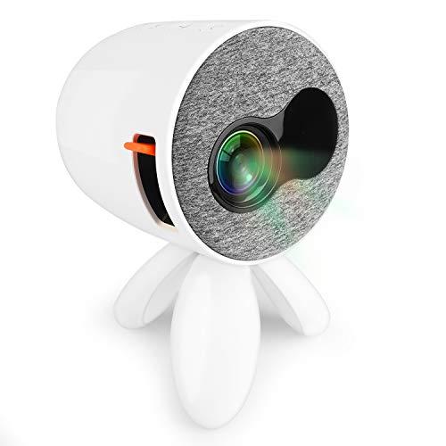EKOOS Mini Beamer Portabler LED Projektor Octopus, Tragbar Klein Beamer als Geschenk für Kinder, Unterstützt Bilder, Home Office, Online Klasse, Cartoons und andere Kinderaktivitäten Video TV Film