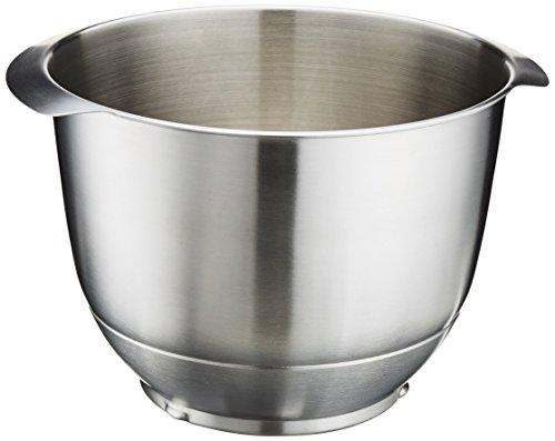 Bosch Edelstahl-Rührschüssel MUZ5ER2, 3,9 Liter, max. Teigmenge 2,7 kg, geschmacksneutral, lebensmittelecht, einfach zu reinigen, spülmaschinengeeignet, passend für MUM5 Küchenmaschine