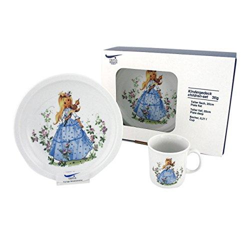 Triptis-Porzellan Dornröschen Kindergedeck, 3 teilig Kindergeschirr, 3 Stück (1er Pack), 3