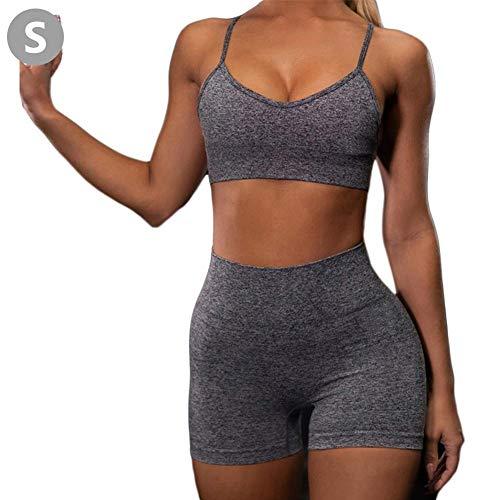 wonderday Frauen Yoga Sets BH + Shorts Lady Anzug Sport Reflektierende Modische Sexy Hosenträger Weste Anzug Kurze Sportbekleidung Für Workout Running Fitness