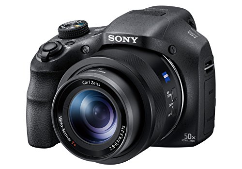 Sony Digitalkamera DSC-HX350 Bridge-Kamera mit 50-fach optischem Zoom (Exmor R Sensor, Carl Zeiss Vario-Sonnar Weitwinkelobjektiv 24-1200 mm, Full HD Video, 7,5 cm (3 Zoll) Display) schwarz