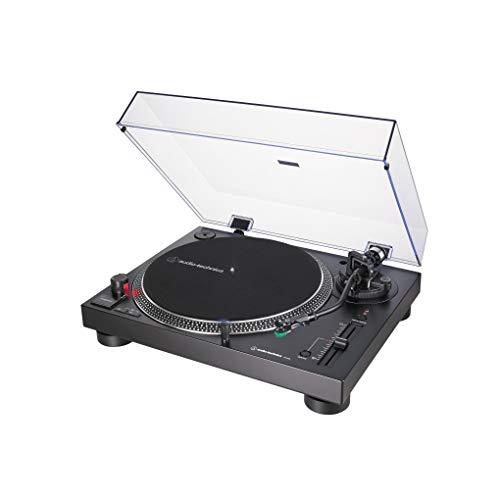 Audio-Technica AT-LP120X direktangetriebener Plattenspieler (Analog und USB) schwarz