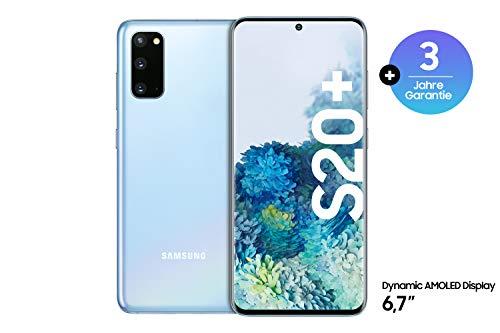 Samsung Galaxy S20+ Smartphone Bundle (16,95 cm) 128 GB interner Speicher, 8 GB RAM, Hybrid SIM, Android inkl. 36 Monate Herstellergarantie [Exklusiv bei Amazon] Deutsche Version, cloud blue