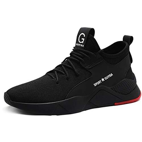 Ulogu Sicherheitsschuhe Herren Arbeitsschuhe Damen Leicht Atmungsaktiv Schutzschuhe Stahlkappe Sneaker Wanderschuhe 43 EU Schwarz#4