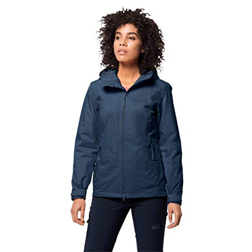 Jack Wolfskin Damen FROSTY MORNING JKT W wasserdichte Winterjacke, dark indigo, L