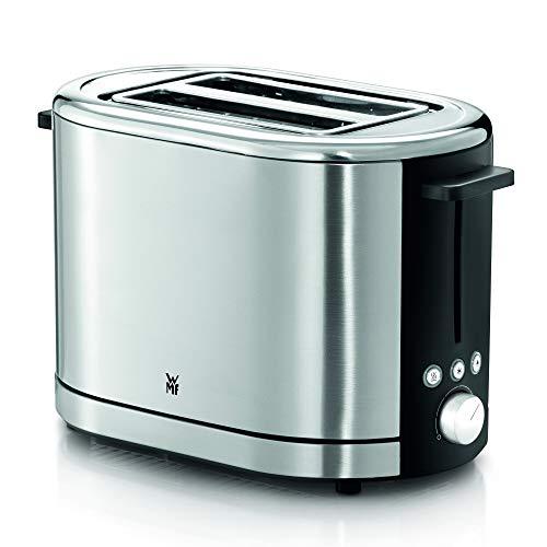 WMF Lono Toaster Edelstahl, Doppelschlitz Toaster mit Brötchenaufsatz, 2 Scheiben, XXL-Toast, 7 Bräunungsstufen, 900 W, edelstahl matt