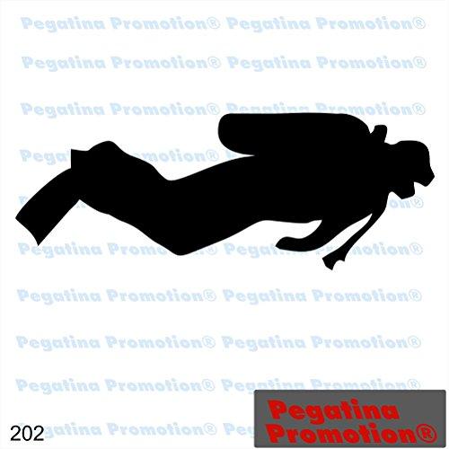 Piktogramm Typ 202 Icon Symbol Zeichen Taucher Diver Tauchsport Tauchschule Aufkleber Sticker ca.15cm von Pegatina Promotion Aufkleber mit Verklebehilfe von Pegatina Promotion ohne Hintergrund geplottet