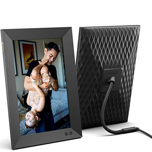 Nixplay 10.1 Zoll Smart Digitaler Bilderrahmen mit WLAN (W10F) - Schwarz - Videoclips und Fotos sofort per E-Mail oder App teilen
