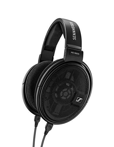 Sennheiser HD 660 S - Offener, leichter audiophiler Over-Ear Kopfhörer mit niedriger Impedanz und verbessertem Schallwandler System, schwarz