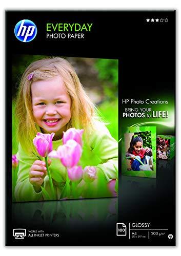 HP Everyday-Fotopapier, glänzend, 200g/m2, DIN A4, 100 Blatt