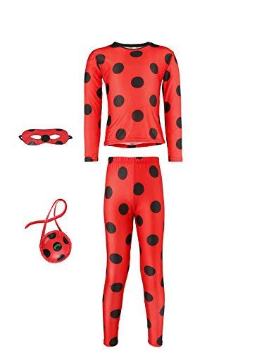 Seawhisper Lady Bug Kostüm Kinder 104 Kleinkind Kostüm Ladybug Kostüme Mädchen Marienkäfer Kostüm Halloween Faschings-kostüme 110 Rot