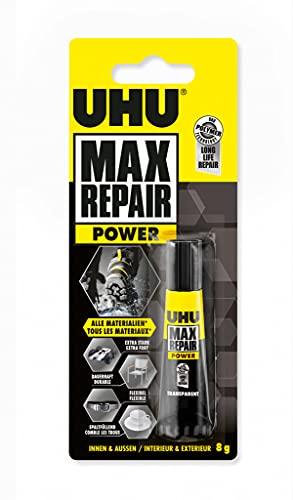 UHU Max Repair Extreme, Extra starker und universeller Reparaturkleber für nahezu alle Reparaturen im Innen- und Außenbereich, transparent, 8 g